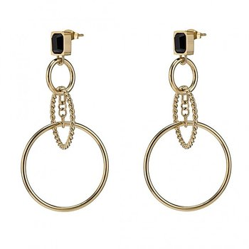 Grace Rings Earring Black/Gold- Bud to Rose