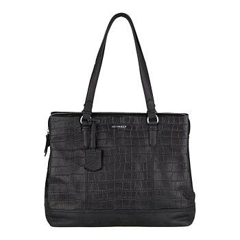 Handväska Caia croco svart  - Burkely