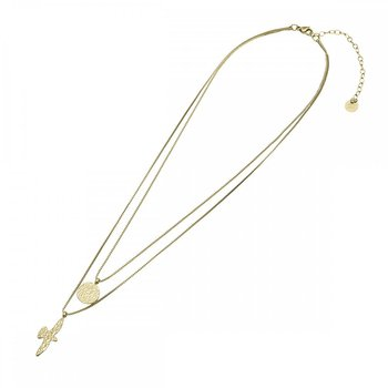 Dove duo halsband guld- Bud to Rose
