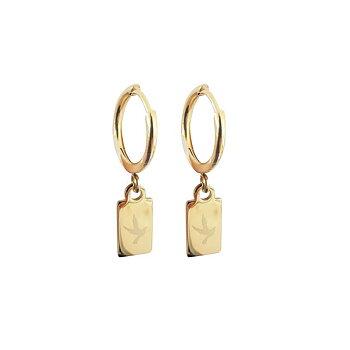 Örhänge FREEDOM TAG EAR GOLD från Pipols Bazaar