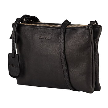 Crossover väska i mjukt läder svart  - Burkely