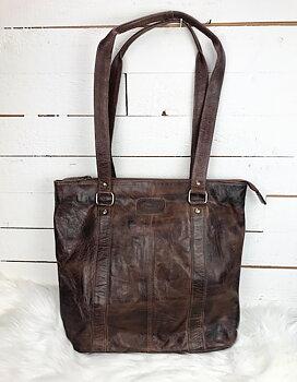 Stilren brun kasse i mjukt härligt läder- Boxca
