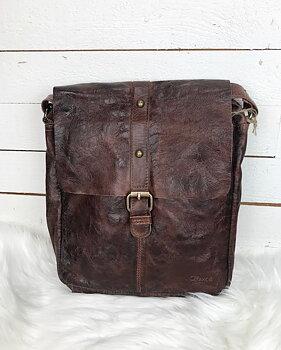 Fin läderväska i mjukt härligt brunt skinn - Boxca