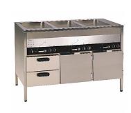 ELEKTROTERMO  VSL 1200-30    Värmeri med 2 underskåp och 2 draglådor.