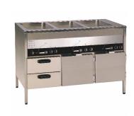 ELEKTROTERMO  VSL 1600-40    Värmeri med 3 värmeskåp och 2 draglådor.