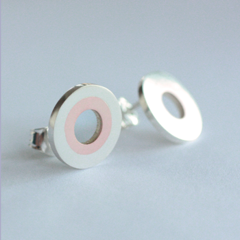 Cirkel - sterling silver and copper earring