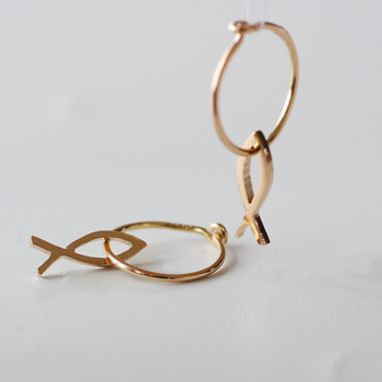 Kompass - small fish in sterling silver or 18 kt gold