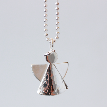Gloria large - sterling silver pendant