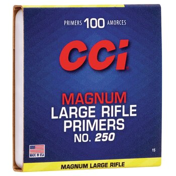 CCI STANDARD LARGE MAG RIFLE PRIMER .250 CLAM 1000/BOX