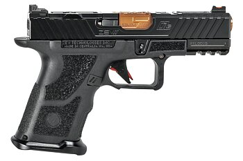 OZ9c Pistol, Compact, Black Slide, Bronze Barrel