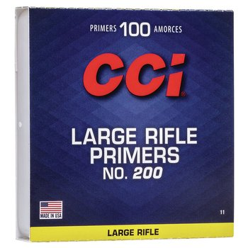 CCI STANDARD LARGE RIFLE PRIMER .200 CLAM 1000/BOX