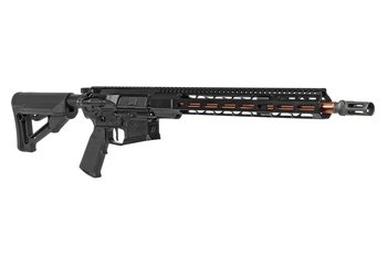 "ZEV AR15 Billet Rifle, 5.56 NATO, 16"" Bronze finish Barrel, Black Finish"
