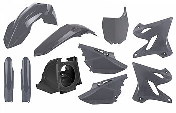 POLISPORT MX Restyle Plastic Kit Nardo Grey Yamaha YZ125/250