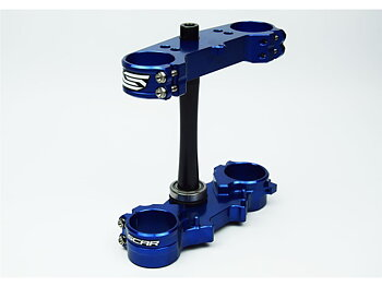 SCAR Triple Clamp Offset 25mm Blue Yamaha YZ250F 15-21