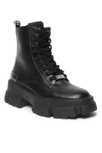 Steve Madden - Tanker Black Leather