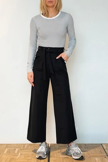 Penn & Ink NY  Wide Trousers Black