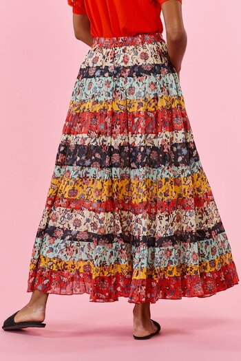 René Derhy -Badge Skirt Multi