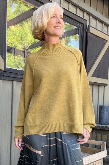 Split Knit Boxy Sweater