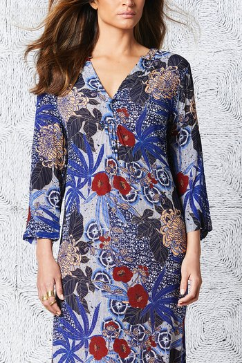 One Season  - Papy Dress Bora Bora Viscose Royal