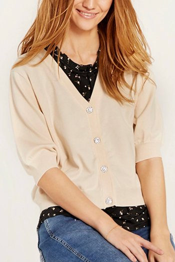 In Front  - Camille Knit Cardigan Cream