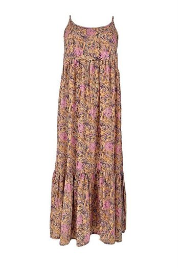 Black Color - Luna Vero Boho Strap Dress Pastel Peach