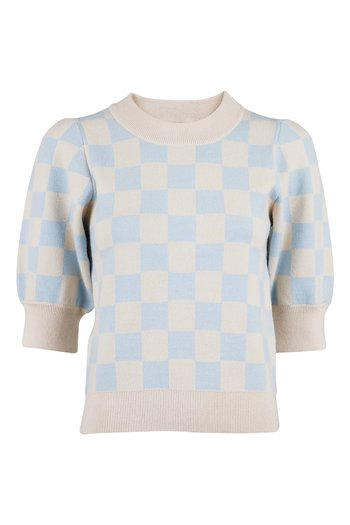Neo Noir - Abi Chess Knit Blouse