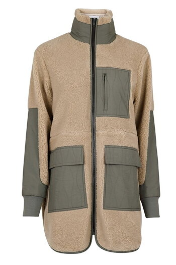 Neo Noir - Flake Teddy Jacket Dusty Mint
