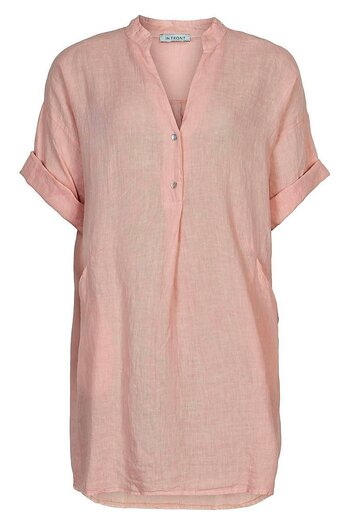 In Front - Lino Tunic Soft Rose
