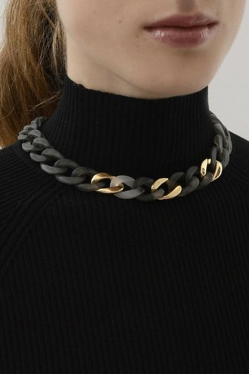Dansk Smykkeskunst - Quiver Curb Ash Necklace Gold Plating