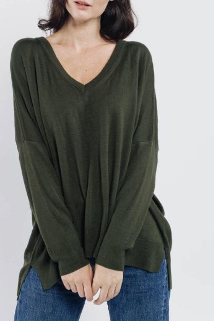 Amanda Knit Army Green