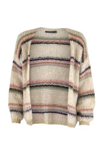 Black Color - Tanne Brushed Knit Cardigan
