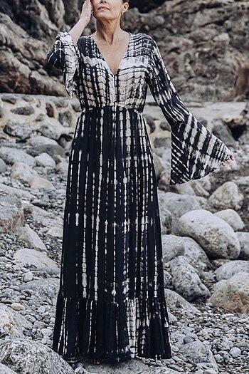 Coconutmilk By Stajl - Susanne Dress Tie Dye Black