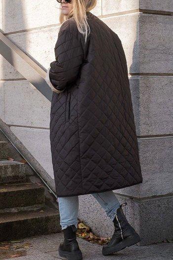 Neo Noir - Jullia Quilt Coat Black