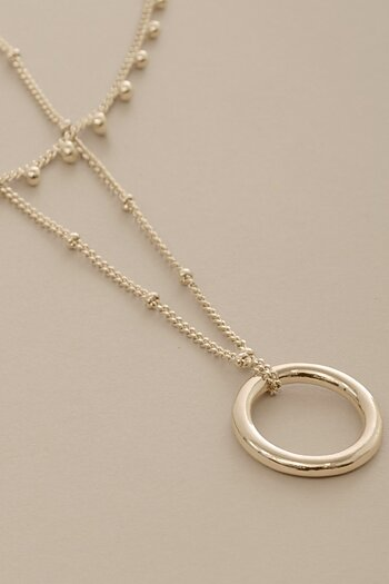Dansk Smykkeskunst - Indian Circle Necklace Goldplated