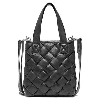 Depeche - Leather Medium Bag Black