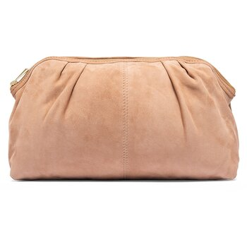 Depeche - Clutch Suede Bag Sand