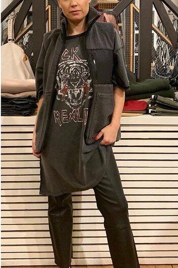 Neo Noir Franita Teddy Vest  Antrasit