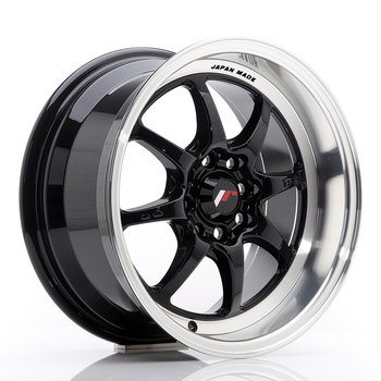 JR Wheels TF2 15x7,5 ET30 4x100/108 Gloss Black