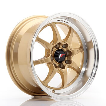JR Wheels TF2 15x7,5 ET30 4x100/114 Gold