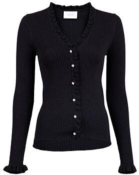Neo Noir Knit Cardigan, Black