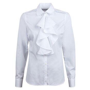 Stenströms Frill Shirt, white
