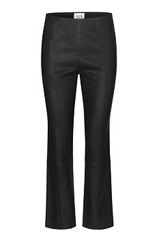 Second Female Joy Leather Bootcut Leggings, Black