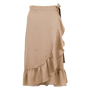 Neo Noir Mika Solid Skirt Dusty Taupe