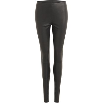 Coster Copenhagen Leather Stretch Leggings, Black