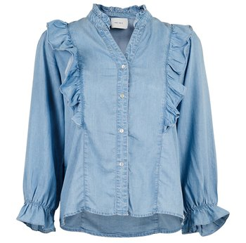 Neo Noir Charlot Chambray Shirt, Blue