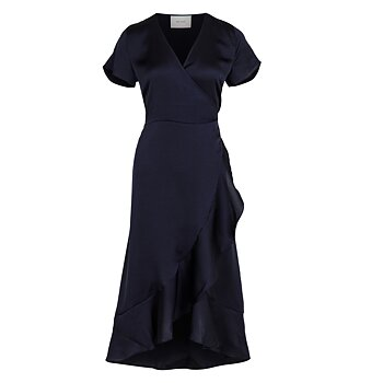Neo Noir Magga Solid Dress Navy