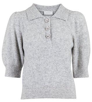 Neo Noir Meta Knit, Light Grey Melange