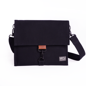DAGA BLACK/BROWN  – diaper bag
