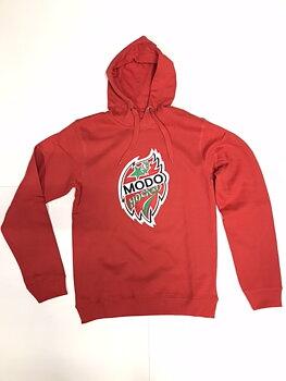 Hoodtröja Logo Röd