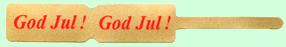 Ringetikett 10x72 mm, guld med röd Jultext